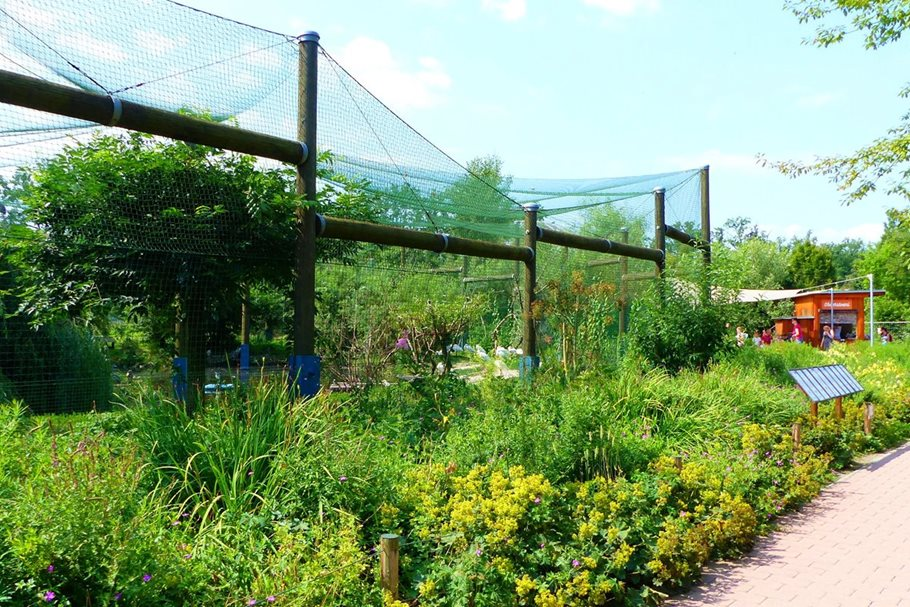 Zelené střechy a přírodě blízké trvalkové výsadby v Zoo Hluboká