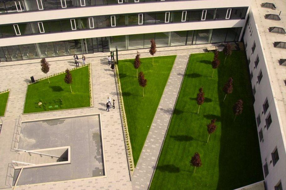 Střešní zahrada komplexu Titanium vBrně