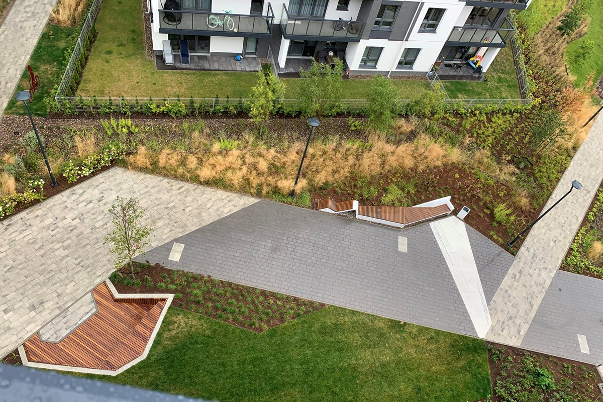 Pocket Retention Park: Expression Passage on the IDEA Multi-Family Estate