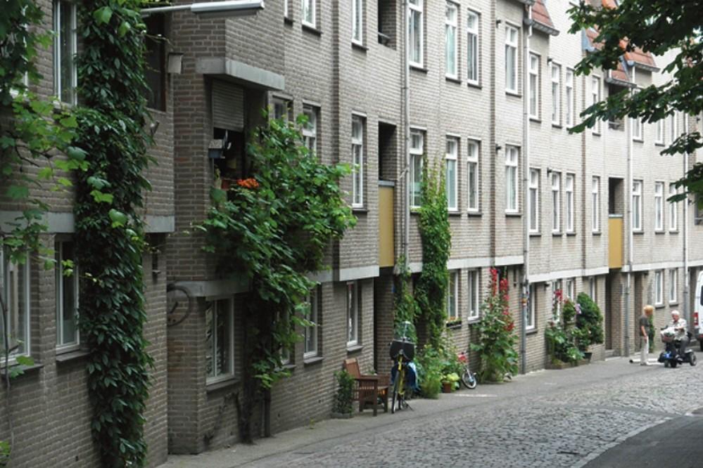 Side walk gardens andgreen walls