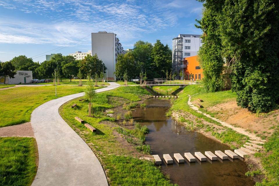Revitalization ofStará Ponávka inBrno